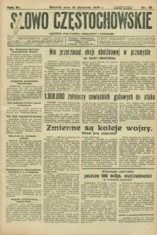 Słowo Częstochowskie : dziennik polityczny, społeczny i literacki. R.6, nr 16 (21 stycznia 1936)