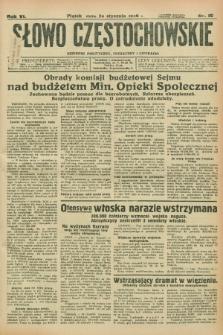 Słowo Częstochowskie : dziennik polityczny, społeczny i literacki. R.6, nr 19 (24 stycznia 1936)