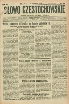 Słowo Częstochowskie : dziennik polityczny, społeczny i literacki. R.6, nr 22 (28 stycznia 1936)