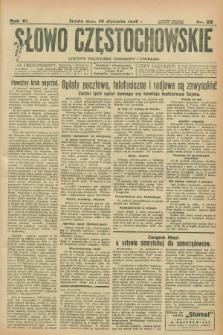 Słowo Częstochowskie : dziennik polityczny, społeczny i literacki. R.6, nr 23 (29 stycznia 1936)