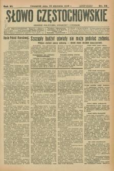 Słowo Częstochowskie : dziennik polityczny, społeczny i literacki. R.6, nr 24 (30 stycznia 1936)