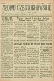 Słowo Częstochowskie : dziennik polityczny, społeczny i literacki. R.6, nr 25 (31 stycznia 1936)