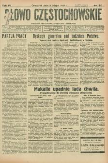 Słowo Częstochowskie : dziennik polityczny, społeczny i literacki. R.6, nr 30 (6 lutego 1936)