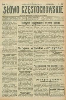 Słowo Częstochowskie : dziennik polityczny, społeczny i literacki. R.6, nr 35 (12 lutego 1936)