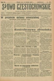Słowo Częstochowskie : dziennik polityczny, społeczny i literacki. R.6, nr 37 (14 lutego 1936)