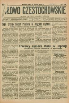 Słowo Częstochowskie : dziennik polityczny, społeczny i literacki. R.6, nr 49 (28 lutego 1936)
