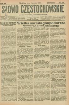 Słowo Częstochowskie : dziennik polityczny, społeczny i literacki. R.6, nr 51 (1 marca 1936)