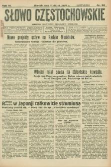 Słowo Częstochowskie : dziennik polityczny, społeczny i literacki. R.6, nr 52 (3 marca 1936)