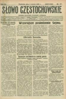 Słowo Częstochowskie : dziennik polityczny, społeczny i literacki. R.6, nr 57 (8 marca 1936)
