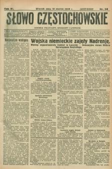 Słowo Częstochowskie : dziennik polityczny, społeczny i literacki. R.6, nr 58 (10 marca 1936)