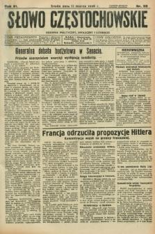 Słowo Częstochowskie : dziennik polityczny, społeczny i literacki. R.6, nr 59 (11 marca 1936)
