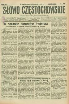 Słowo Częstochowskie : dziennik polityczny, społeczny i literacki. R.6, nr 60 (12 marca 1936)