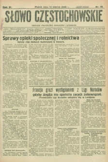 Słowo Częstochowskie : dziennik polityczny, społeczny i literacki. R.6, nr 61 (13 marca 1936)