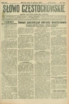 Słowo Częstochowskie : dziennik polityczny, społeczny i literacki. R.6, nr 64 (17 marca 1936)