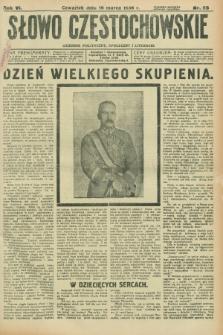 Słowo Częstochowskie : dziennik polityczny, społeczny i literacki. R.6, nr 66 (19 marca 1936)