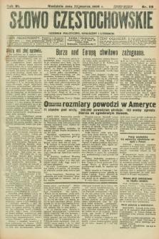 Słowo Częstochowskie : dziennik polityczny, społeczny i literacki. R.6, nr 69 (22 marca 1936)