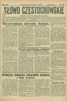 Słowo Częstochowskie : dziennik polityczny, społeczny i literacki. R.6, nr 72 (26 marca 1936)
