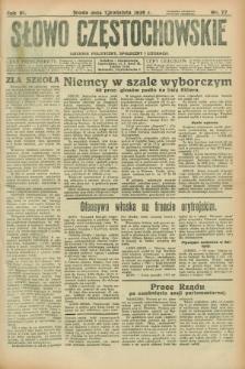 Słowo Częstochowskie : dziennik polityczny, społeczny i literacki. R.6, nr 77 (1 kwietnia 1936)