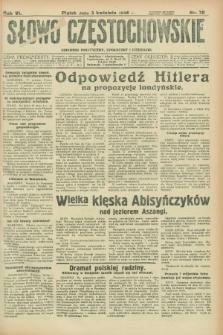 Słowo Częstochowskie : dziennik polityczny, społeczny i literacki. R.6, nr 79 (3 kwietnia 1936)