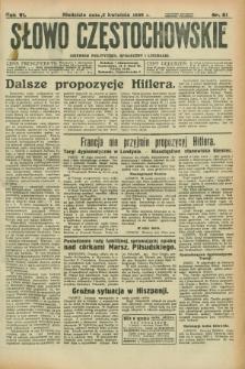Słowo Częstochowskie : dziennik polityczny, społeczny i literacki. R.6, nr 81 (5 kwietnia 1936)