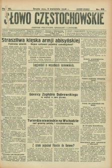 Słowo Częstochowskie : dziennik polityczny, społeczny i literacki. R.6, nr 83 (8 kwietnia 1936)