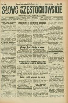 Słowo Częstochowskie : dziennik polityczny, społeczny i literacki. R.6, nr 88 (16 kwietnia 1936)