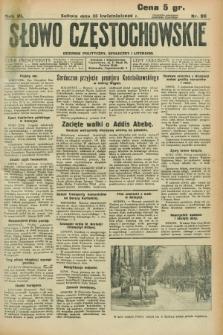 Słowo Częstochowskie : dziennik polityczny, społeczny i literacki. R.6, nr 96 (25 kwietnia 1936)