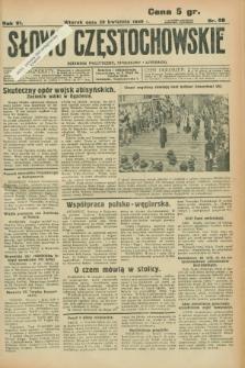 Słowo Częstochowskie : dziennik polityczny, społeczny i literacki. R.6, nr 98 (28 kwietnia 1936)