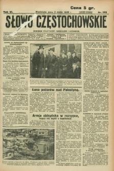 Słowo Częstochowskie : dziennik polityczny, społeczny i literacki. R.6, nr 103 (3 maja 1936)