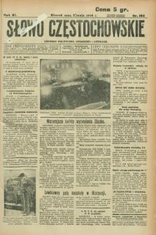 Słowo Częstochowskie : dziennik polityczny, społeczny i literacki. R.6, nr 104 (5 maja 1936)