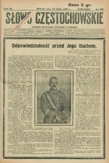 Słowo Częstochowskie : dziennik polityczny, społeczny i literacki. R.6, nr 110 (12 maja 1936)