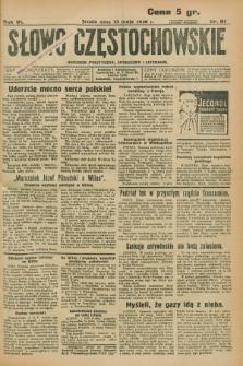 Słowo Częstochowskie : dziennik polityczny, społeczny i literacki. R.6, nr 111 (13 maja 1936)