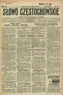 Słowo Częstochowskie : dziennik polityczny, społeczny i literacki. R.6, nr 122 (27 maja 1936)