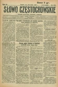 Słowo Częstochowskie : dziennik polityczny, społeczny i literacki. R.6, nr 124 (29 maja 1936)