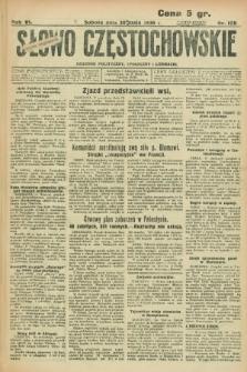 Słowo Częstochowskie : dziennik polityczny, społeczny i literacki. R.6, nr 125 (30 maja 1936)