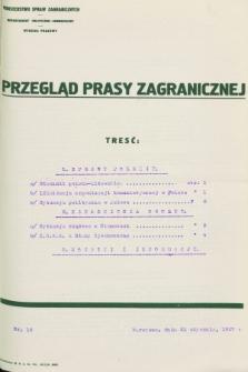 Przegląd Prasy Zagranicznej. 1927, nr 16 (21 stycznia)