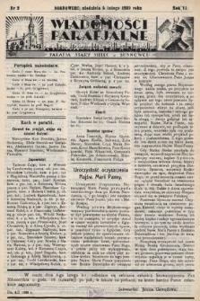"""Wiadomości Parafjalne : dodatek do tygodników """"Niedziela"""" i""""Przewodnika Katolickiego"""". 1939, nr2"""