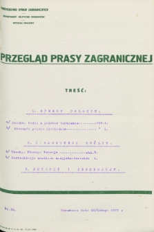 Przegląd Prasy Zagranicznej. 1927, nr 34 (12 lutego)