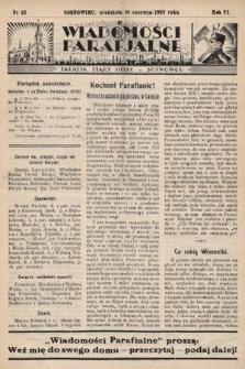 """Wiadomości Parafjalne : dodatek do tygodników """"Niedziela"""" i""""Przewodnika Katolickiego"""". 1939, nr12"""