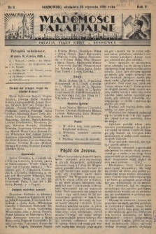 """Wiadomości Parafjalne : dodatek do tygodników """"Niedziela"""" i""""Przewodnika Katolickiego"""". 1938, nr1"""