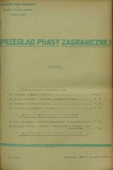Przegląd Prasy Zagranicznej. 1927, nr 169 (3 sierpnia)