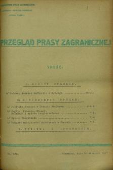 Przegląd Prasy Zagranicznej. 1927, nr 191 (30 sierpnia)