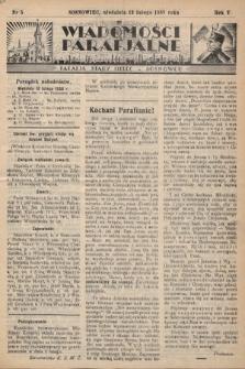 """Wiadomości Parafjalne : dodatek do tygodników """"Niedziela"""" i""""Przewodnika Katolickiego"""". 1938, nr5"""
