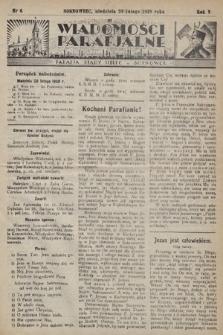"""Wiadomości Parafjalne : dodatek do tygodników """"Niedziela"""" i""""Przewodnika Katolickiego"""". 1938, nr6"""