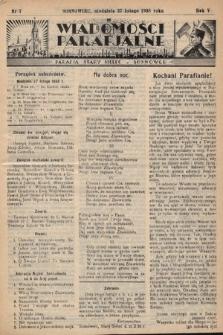 """Wiadomości Parafjalne : dodatek do tygodników """"Niedziela"""" i""""Przewodnika Katolickiego"""". 1938, nr7"""
