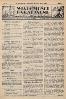 """Wiadomości Parafjalne : dodatek do tygodników """"Niedziela"""" i""""Przewodnika Katolickiego"""". 1938, nr8"""