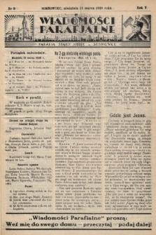 """Wiadomości Parafjalne : dodatek do tygodników """"Niedziela"""" i""""Przewodnika Katolickiego"""". 1938, nr9"""