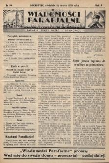 """Wiadomości Parafjalne : dodatek do tygodników """"Niedziela"""" i""""Przewodnika Katolickiego"""". 1938, nr10"""