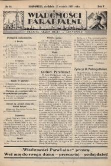 """Wiadomości Parafjalne : dodatek do tygodników """"Niedziela"""" i""""Przewodnika Katolickiego"""". 1938, nr14"""
