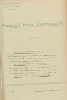 Przegląd Prasy Zagranicznej. 1928, nr 33 (10 lutego1928)